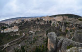 Hanging houses of Cuenca panoramic. Spain — Stock Photo