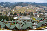 Ski resort in carpathian mountains — Stock Photo