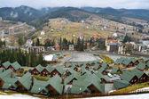 Ski resort in carpathian mountains — Stock Photo