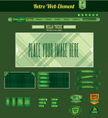 Retro web element — Stock Vector