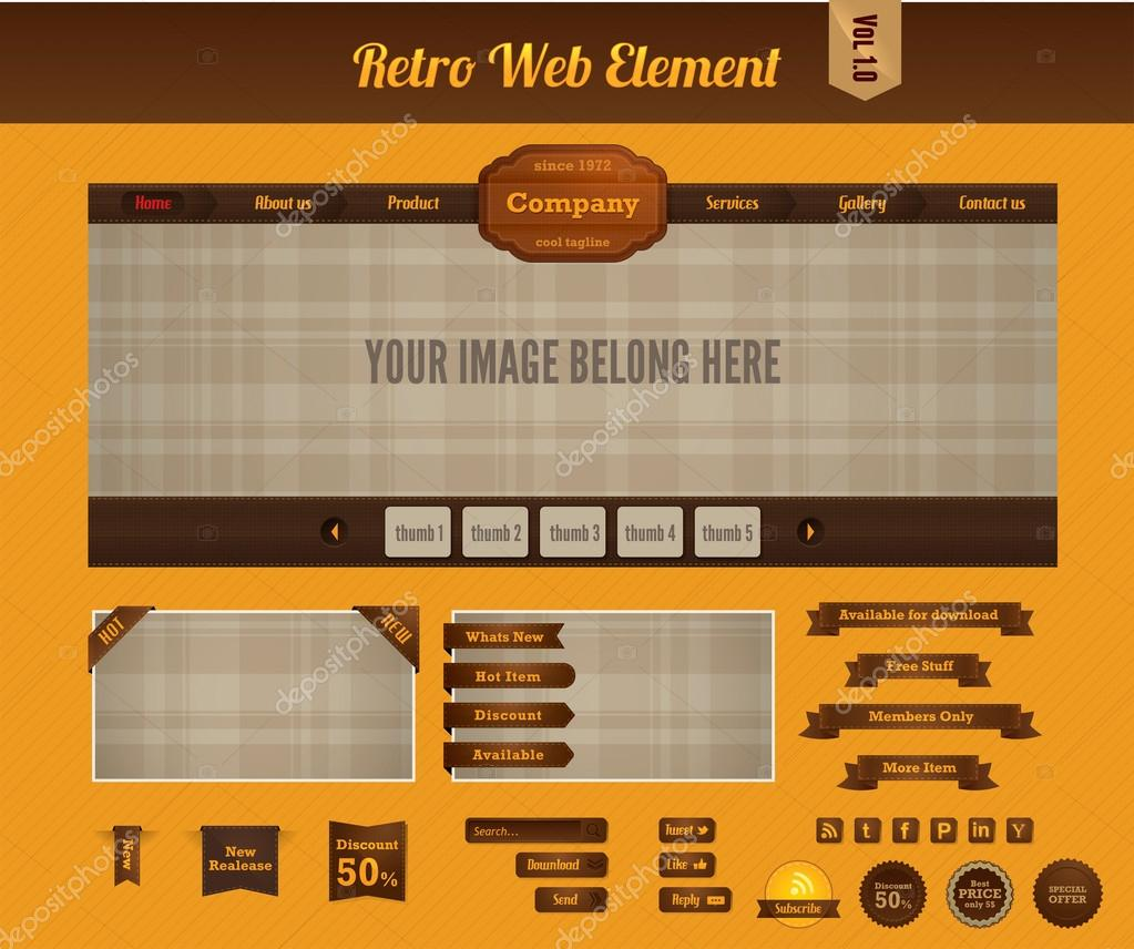 Retro web element — Stock Vector © dewanara #12366415