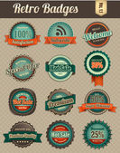 Retro Badges Vol 1-1 — Stock Vector