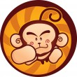 Monkey Mascot - Stock Vector