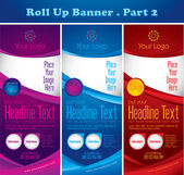 Multipurpose roll up banner — Stock Vector