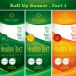 Multipurpose roll up banner - Stock Vector