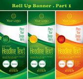 Multipurpose roll up banner — Stock Vector