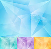 Crystal abstract background — Stock Vector