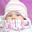 Pretty baby with blue eyes  — Stock Photo