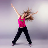 Aerobics zumba fitness woman — Stock Photo
