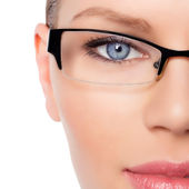 женщина-врач в очки — Стоковое фото