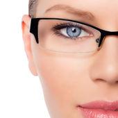 Woman Doctor in eyeglasses — Stock Photo