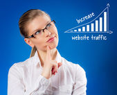 Network Administrator Lady — Stock Photo