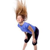Happy zumba fitness instructor — Foto Stock