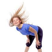Instructora de fitness zumba feliz — Foto de Stock