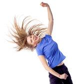 Happy zumba fitness instructor — Stock Photo