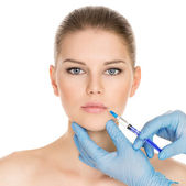 Cosmetic surgery woman — Stock Photo