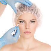 Cosmetic surgery woman — Stock Photo