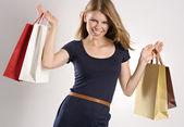 ショッピング女性 — ストック写真