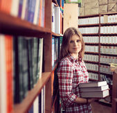 Book shop owner — Stock Photo