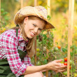 Woman gardener — Stock Photo