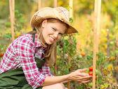 žena zahradník — Stock fotografie