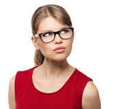 Fashion woman in eyeglasses — Stock Photo
