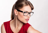 Fashion woman in eyeglasses — Stock Photo