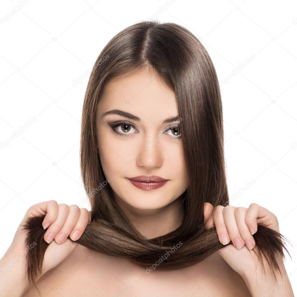 Beauty Model With Long Healthy Hair Stock Photo
