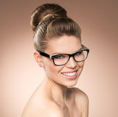 Woman in eyeglasses — Stock Photo