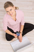 Ecommerce woman — Stock Photo