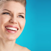 Dental care woman — Stock Photo