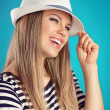 Summer girl in hat — Stock Photo #45956133