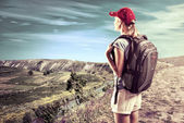Woman traveler — Stock Photo
