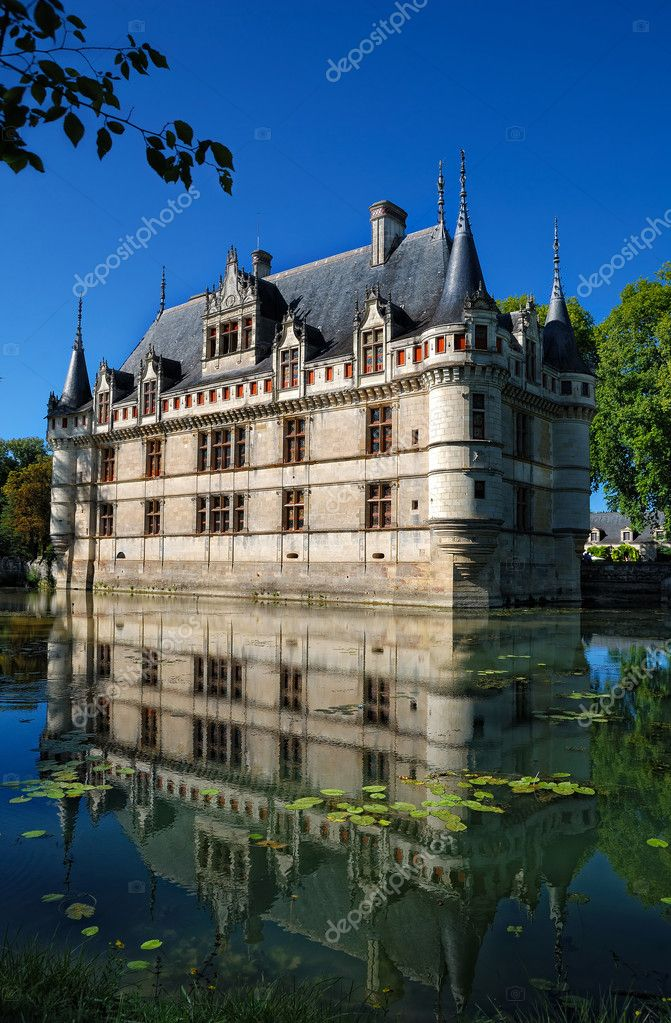 Chateau de versailles moated — Stock Photo #13780534