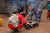 En grupp av kenyas masai stam — Stockfoto
