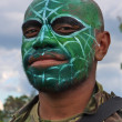 Warrior face paint — Stock Photo