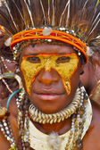 The Leader of a Papuan tribe of Yafi — Stock Photo