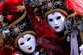 Row of venetian masks | — Foto de Stock