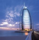 Burj al arab seven stars hotel, DUBAI, UAE — Stock Photo