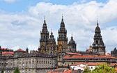 View of Obradoiro Santiago de Compostela cathedral — Stock Photo