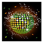 Disco ball isolated — Stock Vector