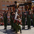 Legionaries with the Christ of the Good Death Malaga — Stock Photo