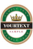 Green Beer Label — Stock Vector