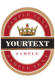 Red beer label — Stock Vector