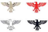 Retro Eagles Silhouette — Stock Vector