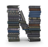 Pilha de n, carta de livros — Fotografia Stock