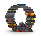 Letter Q, stacked from books — Stock Photo