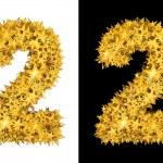 Gold shiny stars number 2 — Stock Photo #20946155