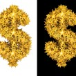 Royalty-Free Stock Photo: Gold shiny stars dollar sign