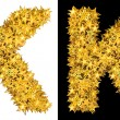 Royalty-Free Stock Photo: Gold shiny stars letter K